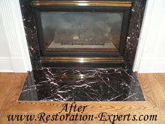 Marble Fireplaces Restoration, Marble Fireplace Claening, Marble Fireplace Polishing , Baltimore, Maryland,Washington  DC, Virginia  After  # M FR  2
