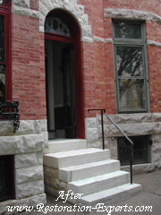 Exterior Marble Step Restoration Baltimore, Maryland, Washington DC, Virginia  After # EMS  2