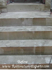 Exterior Marble Step Restoration Baltimore, Maryland, Washington DC, Virginia  Before  # EMS  1