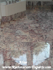 Marble Restoration Before & After,  Baltimore, Maryland,Washington  DC, Virginia  After # BA 6